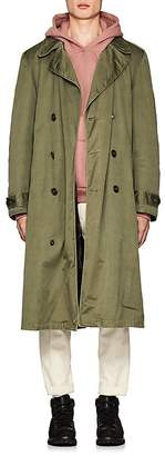AS65 Men's Fur-Lined Cotton Trench Coat