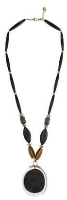 Violeta BY MANGO Geometric pendant necklace