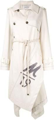 Monse canvas trench coat
