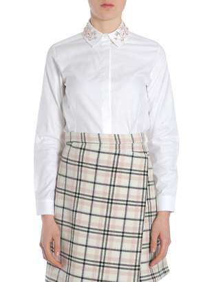 Carven Shirt With Embroidered Collar