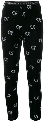 Chiara Ferragni logo patterned leggings