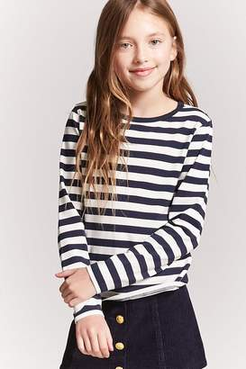 Forever 21 Girls Stripe Knit Top (Kids)