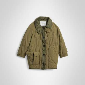 Burberry Childrens Military Quilted Cotton Coat