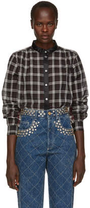 Marc Jacobs Black Plaid Button-Up Shirt