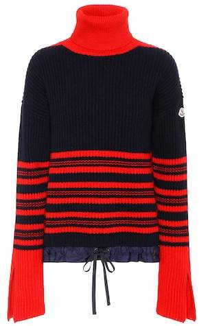 Rippstrick-Pullover aus Wolle und Cashmere