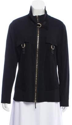 Basler Mesh-Paneled Zip-Up Jacket