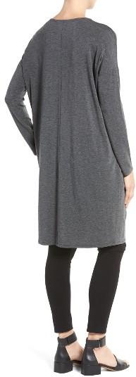 Women's Eileen Fisher Stretch Tencel Jersey Shift Dress 2