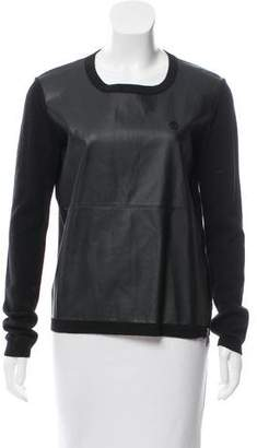 Armani Jeans Wool Contrast-Trimmed Sweater