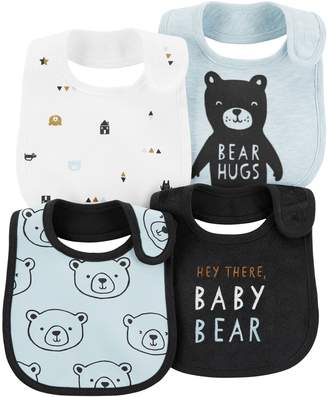 Carter's Baby Boy 4-Pack Print & Graphic Bibs