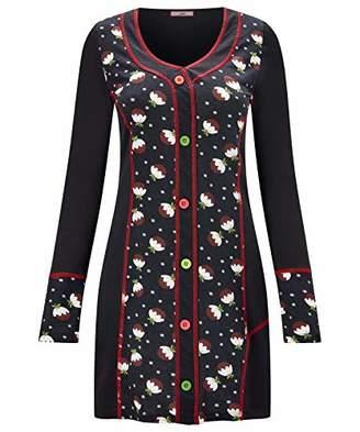 Joe Browns Women's Christmas Pudding Tunic Long Sleeve Top, (Black A), 8 (Size:8)