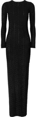 Gareth Pugh Stretch-jersey Maxi Dress - Black