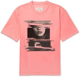 Maison Margiela Oversized Printed Cotton-Jersey T-Shirt