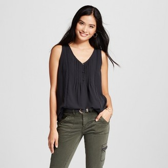 Merona Women's Button-Front Tank $17.99 thestylecure.com