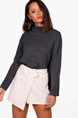 boohoo Lola Oversized Roll Neck Top