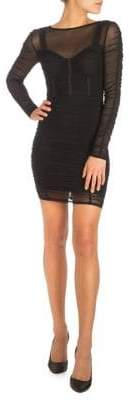GUESS Veronica Mesh Ruched Illusion Dress