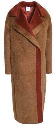 Agnona Two-Tone Alpaca And Wool-Blend Coat