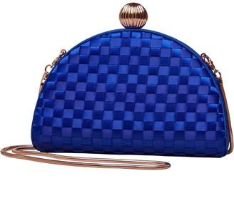 Ted Baker Womens Kyla Weave Bobble Detail Clutch Bag Mid Blue