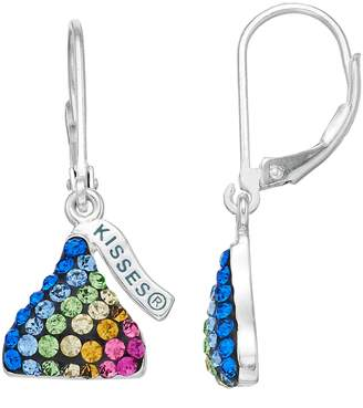 Hershey's Hersheys Sterling Silver Rainbow Crystal Kiss Drop Earrings