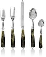 Barneys New York Julia Stainless Steel 5-Piece Place Setting-Green