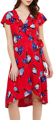 Phase Eight Idella Tulip Print Dress, Red/Multi