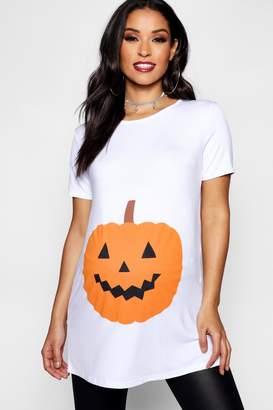 boohoo Maternity Emily Pumpkin Printed Halloween Tee