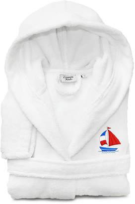 Asstd National Brand Linum Kids 100% Turkish Cotton Hooded Terry Bathrobe -Boat