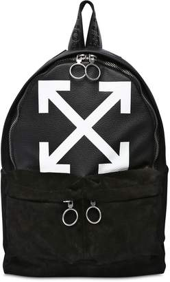 Off-White Off White Arrows Suede & Leather Backpack