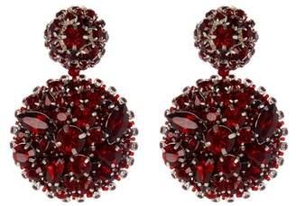 Oscar de la Renta Bold Disk Crystal Earrings