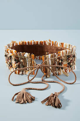 Anthropologie Mosi Raffia Wrap Belt