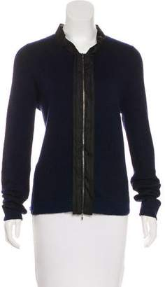 Marni Mohair-Blend Zip-Up Cardigan