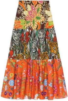 Gucci Patchwork print skirt
