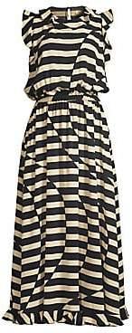 Stine Goya Women's Liberty Optical Stripe Ruffled Dress