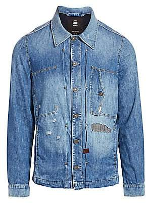 G Star Men's Distressed Denim Shirt