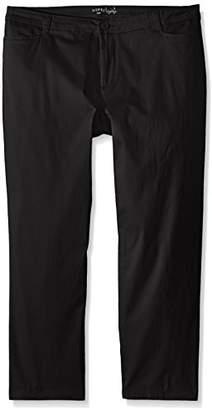 Lee Indigo Women's Petite-Plus-Size Straight Leg Casual Twill Pant