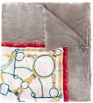 Avant Toi printed square scarf