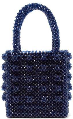 Shrimps - Antonia Sapphire Crystal Embellished Bag - Womens - Dark Blue