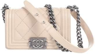Chanel Boy Beige Leather Handbag