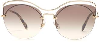 Miu Miu Cat-eye metal sunglasses