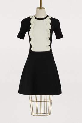 RED Valentino Knit dress with ruffled panel