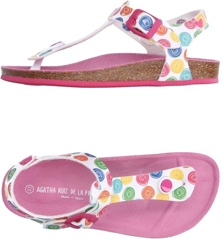 Agatha Ruiz De La PradaAGATHA RUIZ DE LA PRADA Toe strap sandals