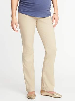 Old Navy Maternity Full-Panel Everyday Boot-Cut Khakis
