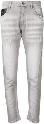 John Richmond paint splatter slim fit jeans