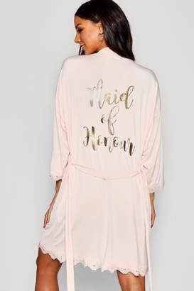 boohoo Maid of Honour Bridal Robe
