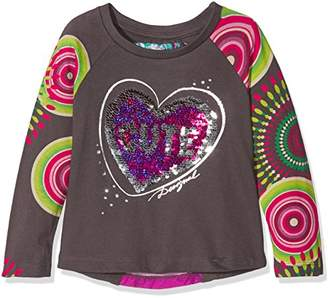 Desigual Girl's TS_Saskatchewan Striped Regular Fit Long Sleeve Top,(Manufacturer Size: 3/4)