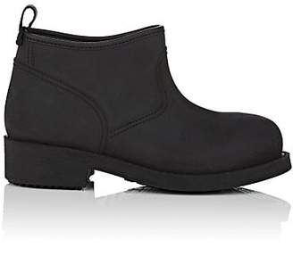Barneys New York Women's Brushed Rubber Ankle Boots - Black