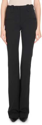 Altuzarra High-Waist Boot-Cut Jersey Pants