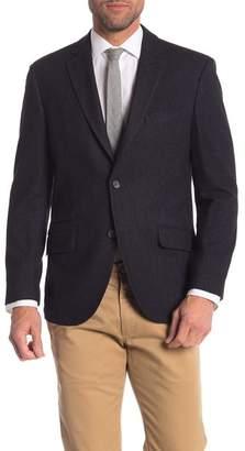 FLYNT Wool Blend Long Sleeve Two Button Notch Collar Blazer