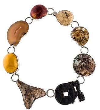 Fossil Rebecca Collins & Multistone Collar Necklace