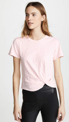 Enza Costa Side Knot Crew Tee