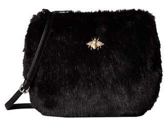 San Diego Hat Company BSB3546 Crossbody Fur Handbag with Bug Detail